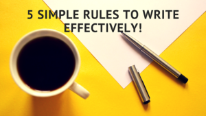 Write Effectively