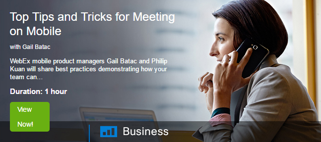 Top tips & trciks for meeting on mobile