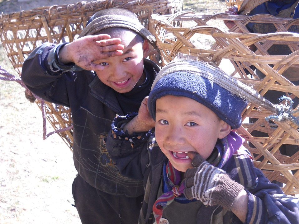 Nepalese Children in Himalayas
